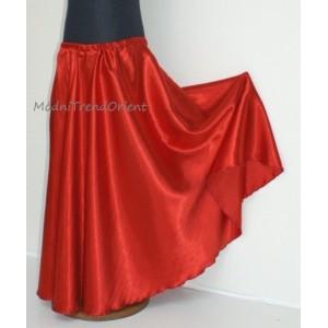 Dívčí sukně půlkolová saténová