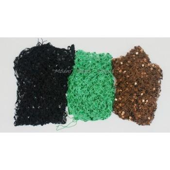 Šátek háčkovaný s flitry