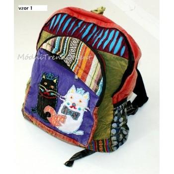 e244f86418e ETNO batoh KOČKY - Modní Trend Orient