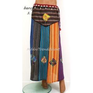 Sukně INDICKÁ patchwork styl