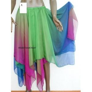 Duhová sukně cípatá dvouvrstvá