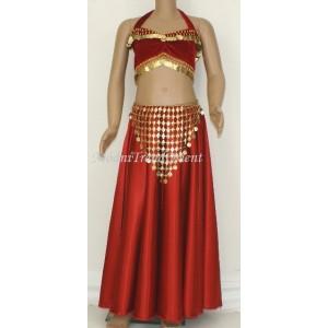 Dívčí kolová sukně satén