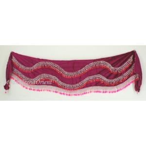 Šátek pro větší boky s korálky